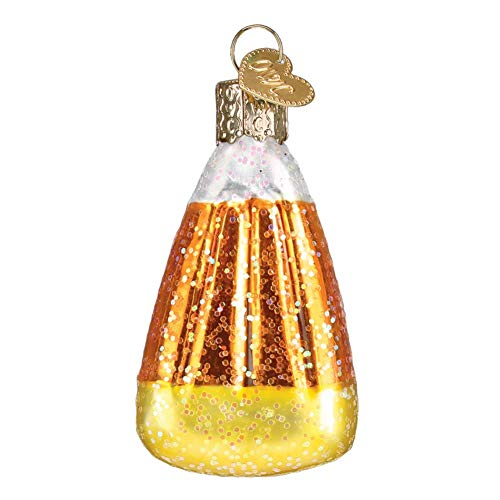 Old World Christmas Candy Corn Glass Ornament Halloween 26084.]()