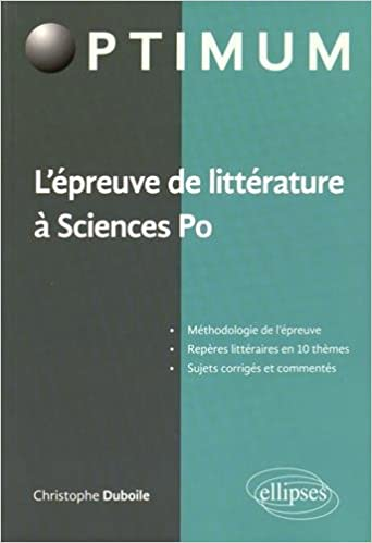 Lire un L'Épreuve de Littérature à Sciences Po epub pdf