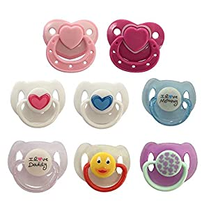 qianele 8 Styles Per Lovely Magnet Pacifier Magnetic Dummy Nipple Reborn Doll Accessories For Newborn Baby Dolls