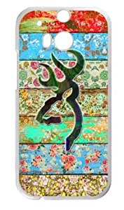 777Life Protective Phone Case Cover for HTC One M8 Rainbow Browning Watercolor Cases