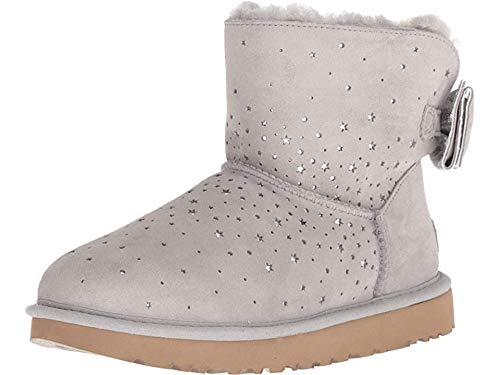 UGG Women's W STARGIRL Bow Mini Fashion Boot, Seal, 11 M US (Boots With Bows Ugg)