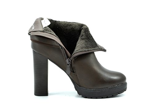 Chunky Interior Booties PAIRS Basel Ankle DREAM Sexy Women's High Fur Platform Heel Basel Fashion brown Free xwBAARqS8
