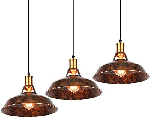 Industrial Pendant Light 3 Pack Vintage Hanging Pendant Lights Retro Pendant Light Fixture Home Kitchen Lighting