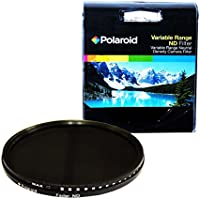Polaroid Optics 62mm HD Multi-Coated Variable Range (ND3, ND6, ND9, ND16, ND32, ND400) Neutral Density (ND) Fader Filter - 6 Filters in 1!