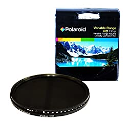 Polaroid Optics 58mm HD Multi-Coated Variable Range (ND3, ND6, ND9, ND16, ND32, ND400) Neutral Density (ND) Fader Filter - 6 Filters in 1!
