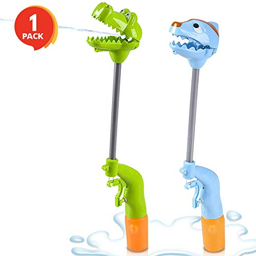 (ArtCreativity 13 Inch Dinosaur Hand Grabber Water Squirter Toy | Dual Water Squirt Gun and Jaw Snapper Action | Great Interactive Toy | Fun Outdoor Summer Toys for Boys and Girls (Colors May Vary))