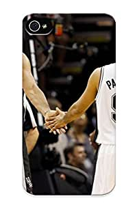 Trolleyscribe High Grade Flexible Tpu Case For Iphone 4/4s - San Antonio Spurs Basketball Nba (8) ( Best Gift Choice For Thanksgiving Day)