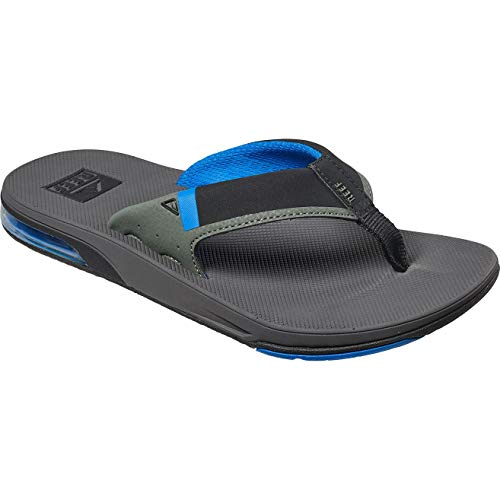 (Reef Fanning Low Water-Friendly Churchkey Sandals (Men's) 10 Grey/Blue)