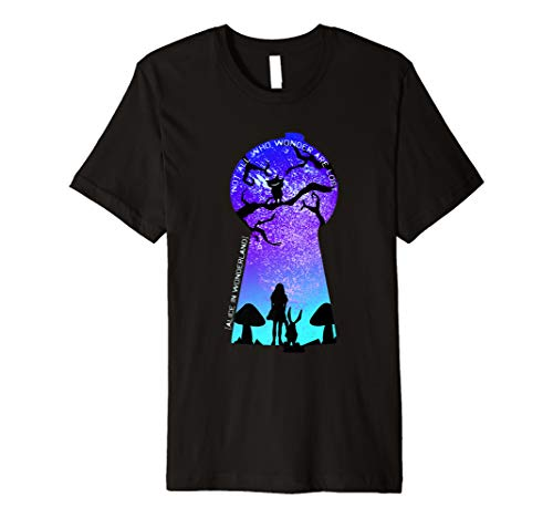 Not All Who Wonder Are Lost Alice Keyhole T-Shirt ()