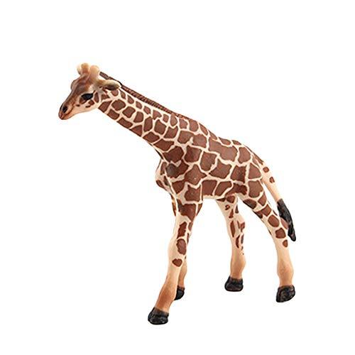 AMOFINY Baby Toys Simulation of Wild Big, Medium, Small Giraffe Family of Three Educational Simulated Giraffe Model Kids Children Toy Giraffe Gift
