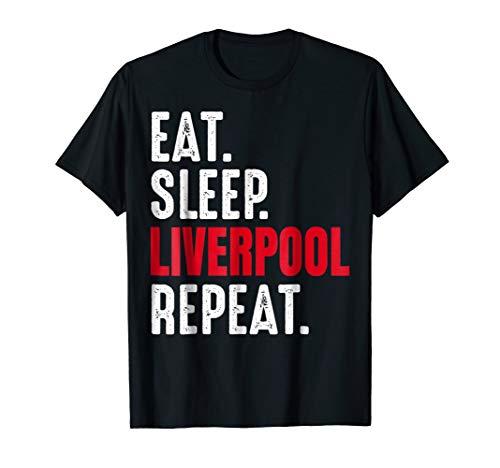 Liverpool T-Shirt Eat Sleep Repeat Gift