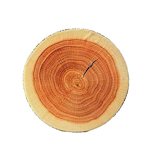 Creativo 3D de madera almohada Stump Cojín silla redonda ...
