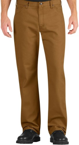 Dickies Occupational Workwear LU239RBD3832 LU239 Industrial Relaxed Fit Straight Leg Carpenter Duck Jean, Fabric, 38