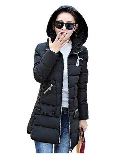 Manteau À Grande Couleur Xl Taille Et Manches Une Polypropylène Pour Longues Simple Yameijia Femmes Matelassé R8r56qOxw8