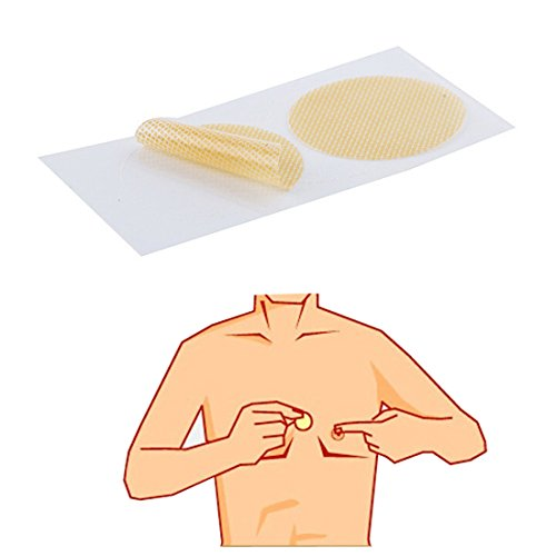 YHOUSE 50Pairs Mens Nipple Concealer for Chafing Prevention, Invisible Sport Nip Cover, Comfortable, Stretchable, Easy to Use by YHOUSE