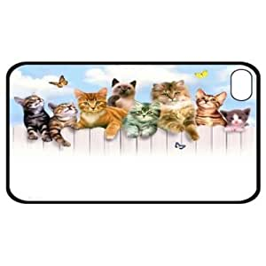 CAT KITTEN GROUP HARD CASE COVER FOR APPLE IPHONE 4 4S NEW