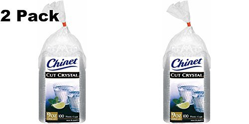 (Chinet 100 CT 9 OZ Cut Crystal Plastic Cold Cups (Total 200 pieces) by Chinet)