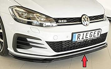 Rieger Frontal Alerón Espada Negro Brillante para Volkswagen Golf 7 GTI/GTD/GTE: 02.17 (a Partir de Facelift): Amazon.es: Coche y moto