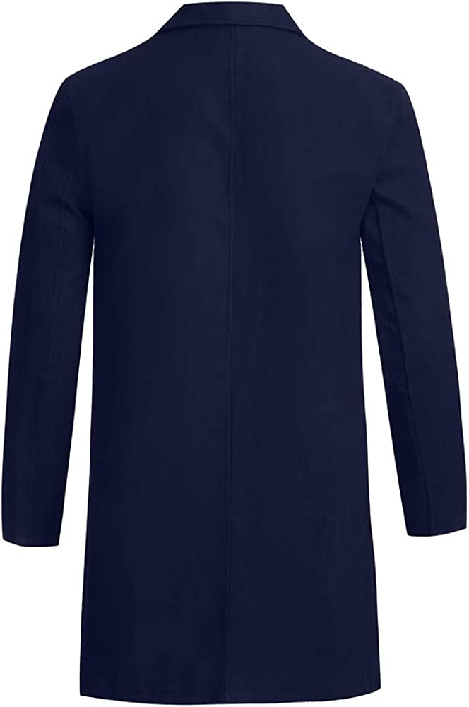 DaySeventh Clothes Mens Autumn Winter Button Slim Long Sleeve Suit Jacket Trench Coat