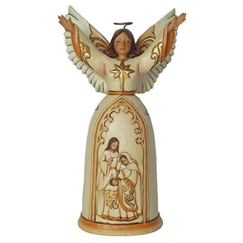Jim Shore for Enesco Heartwood Creek Ivory and Gold Nativity Angel Figurine, 7.25