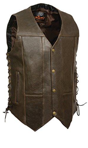 Milwaukee Men's Classic 4 10-Pocket Vest (Retro Brown, Size - Male Retro Look
