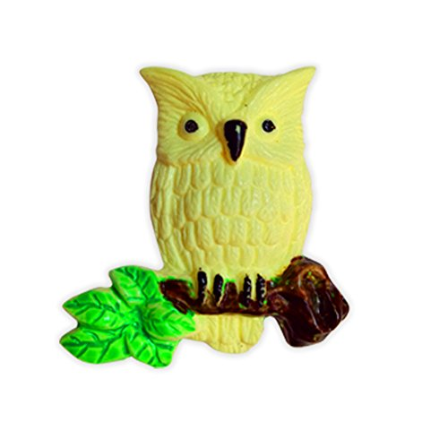 Jephny Glow in The Dark Owl,3D Fluorescent Switch Stickers,Wall Stickers,Light Switch Decor,Night-Luminous Animals (Owl)