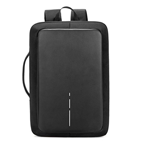 (Zrui Slim Business Laptop Backpack for Men, Anti Theft Backpack, Waterproof Travel Backpack with USB Charging Port, Fits 15.6 Inch Laptop/Notebook)