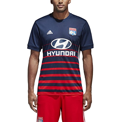 Adidas Olympique Lyon Away Jersey M Night Indigo-Red-White