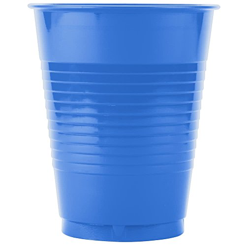 28145081B 16 oz. True Blue Plastic Cup - 50/Pack By TableTop King