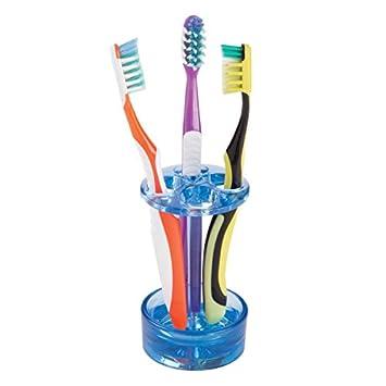 mDesign Soporte para cepillo de dientes – Práctico porta cepillos con espacio para hasta 4 cepillos