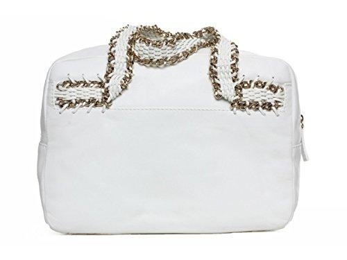 Guess Shopper Schultertasche Tasche Rock & Chick Weiß #GU058A LI5pz
