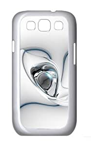 3D White Pattern Custom Hard Back Case Samsung Galaxy S3 SIII I9300 Case Cover - Polycarbonate - White