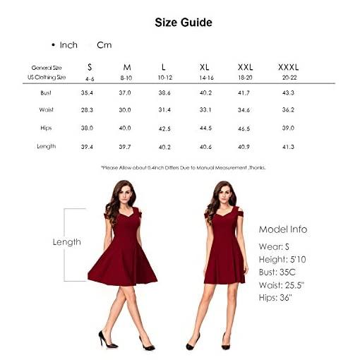 a56c3af161f InsNova Women s Cold Shoulder Little Cocktail Party A-line Skater Dress -  Luxury Beauty Store