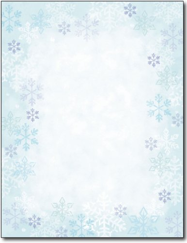 Just Print! Blue Flakes Letterhead, 80-pk