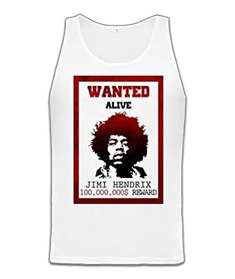 d32c901778a Jimi Hendrix Wanted Alive Unisex Jersey Tank: Amazon.co.uk: Clothing