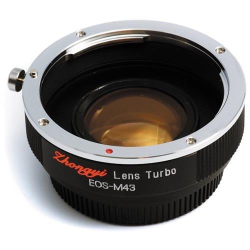 Mitakon Zhongyi Lens Turbo Adapter for Canon EF - M43 - Micro Four Thirds Camera, Version II (M43 / - Turbo Lens