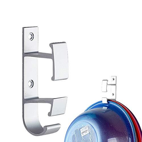 - JISETY Punch - Free Drain Storage Clip Space Aluminum Washbasin Hook for Kitchen Creative Double Decker Wall Hanging Rack