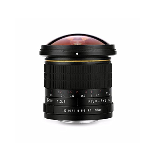 Lightdow 8mm f/3.5 Aspherical MC Fisheye Lens for Nikon D500 D3200 D3300 D3400 D5200 D5300 D5500 D5600 D7100 D7200 D7500 Cameras