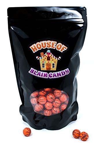 Chocolate Covered Basketballs - Bulk Chocolate Basketball Candy - 2 Pounds - Approximately 160 -