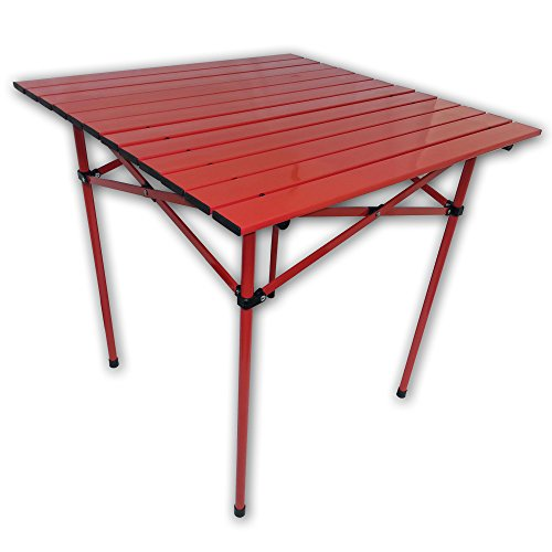 Table in a Bag TA2727R Aluminum Portable Table with Carrying Bag, Tall, Red
