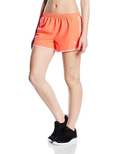 Adidas Marathon 10 shorts para mujer vestido de la pierna Color Naranja