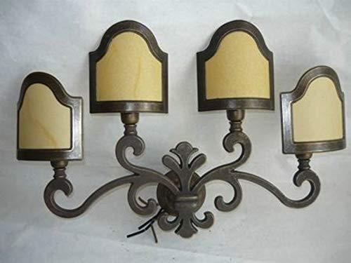 Applique Lampada GIGLIO FIORENTINO in ottone con ventole
