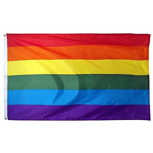 5X8 Ft Gay Rainbow Flag House Banner 5Ft X 8Ft 150D Super Poly]()