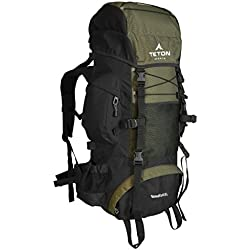 TETON Sports Scout 3400 Internal Frame(ALUMINUM) Backpack; Great Backpacking Gear or Pack for Camping or Hiking; Hunter Green