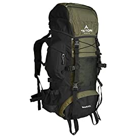 Teton Sports Scout 3400 Internal Frame Backpack; High-Performance Backpack for Backpacking, Hiking, Camping 10 HIGH RANKING PACK: Continues to be the top selling internal frame backpack on Amazon at a great price for all the included features PERFECT BEGINNER OR QUICK TRIP PACK: Just right for youth and adults for light backpacking trips; best for 2-4 day adventures; 3400 cubic inches (55 L) capacity; weighs 4.5 pounds (2 kg) FIVE-STAR COMFORT: Multi-position torso adjustment fits wide range of body sizes; Durable open-cell foam lumbar pad and molded channels provide maximum comfort and airflow; Backpack for men and women