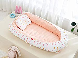 Baby Nest Newborn Baby Lounger Soft Breathable Cotton for Newborn & Babies Sleeping Pod Baby Bassinet for Bed/Style 6