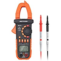 Meterk Digital Clamp Meter Multimeter 4000 Counts Auto-ranging Multimeter AC/DC Voltage&Current Tester with Resistance, Capacitance, Frequency, Diode, Hz Test, Non-contact Voltage Detect