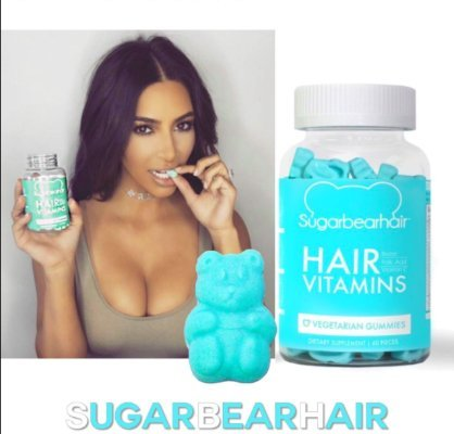 SUGARBEARHAIR VITAMINS 3 Month Supply with free hairbrush