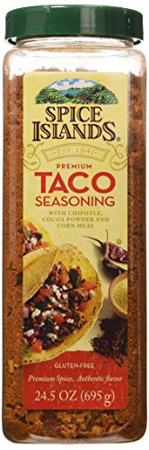 Spice Islands Premium Taco Seasoning with Chipotle Cocoa Powder and Corn Meal. Gluten Free (Best Taco Seasoning Packet)