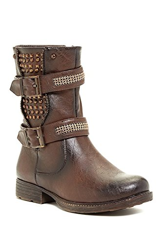 931b3e5a608 Extreme by Eddie Marc Trinity Buckled Studded Boot
